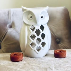HP🎉 YANKEE CANDLE Owl Candle Holder